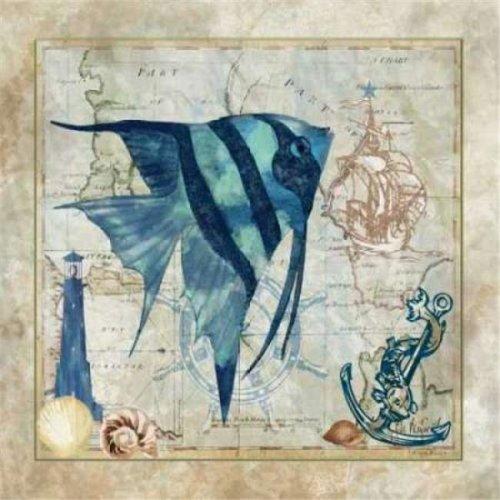 Nautical Fish I Poster Print by Jill Meyer, 12 x 12 - Small