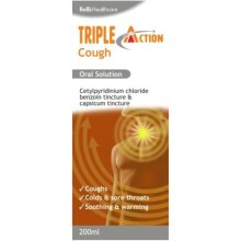 Bells Triple Action Oral Solution Coughs Colds Warm Soothing 200ml