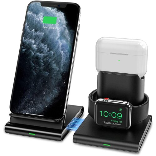 Wireless Charger Apple Watch and AirPods 2 Charging Station Magnetic Design