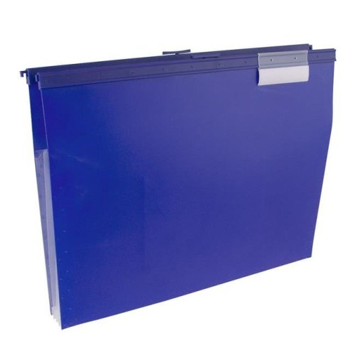 Wilson Jones W68206B Slide-Bar File Jacket with CD Holder, Blue