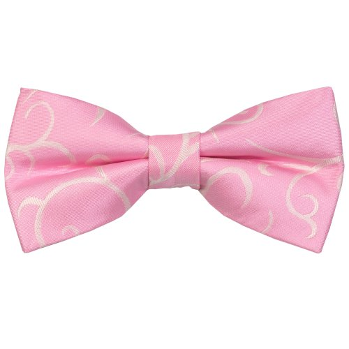 Light Pink Modern Scroll Wedding Bow Tie #AB-BB1002/3