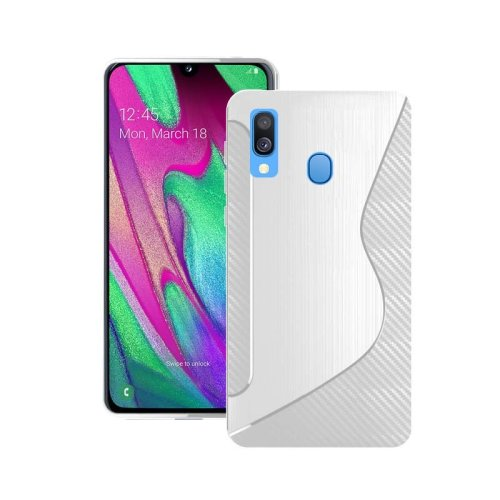 Case For Samsung Galaxy A40 2019 Clear S Line Silicone Gel Cover