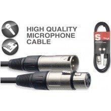 Stagg Smc Xlr Microphone Cable (6m/20ft, Black) - Smc6