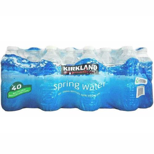 Natural Spring Water Kirkland Signature Screw Cap  Bottles  40 x 500ml