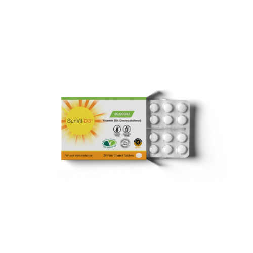 SunVit-D3 Vitamin D 20000IU Weekly Tablets - UK made - Informed sports - Used by Athletes