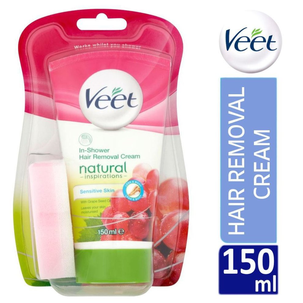 Veet Natural Inspirations In Shower Hair Removal Cream 150ml For