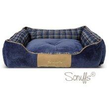 Scruffs Highland Box Dog Bed - Blue, XL
