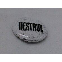 Destroy 25mm punk badge sex pistols clash