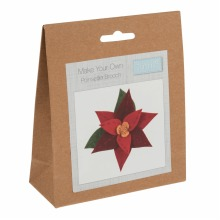 Felt Decoration Kit: Christmas Poinsettia Brooch