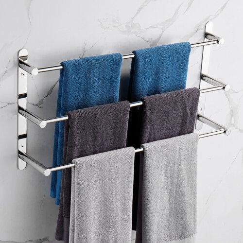 Rustproof  Three Stagger Layers Towel Holder Bars