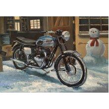 Triumph Bonneville British Motorbike Motorcycle Christmas Xmas Card