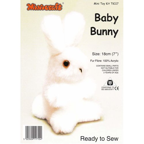 Pink Baby Bunny Ready-to-Sew Mini Soft Toy Kit by Minicraft