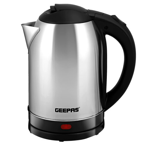 Geepas 1500W 1.8L Electric Kettle | Stainless Steel Cordless Kettle