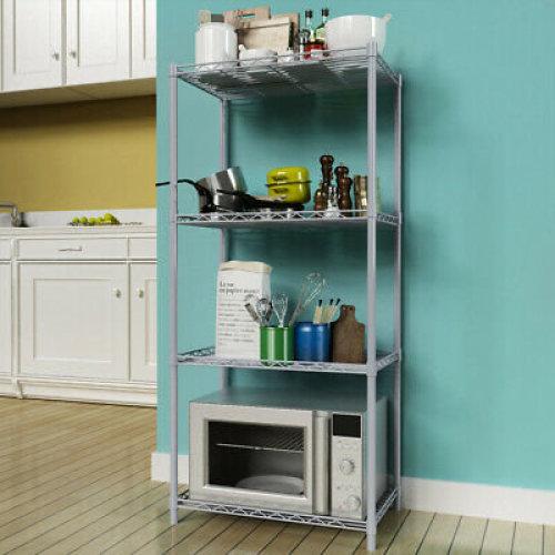 Storage Rack/Shelving Wire Shelf Kitchen/Office 4 Tier