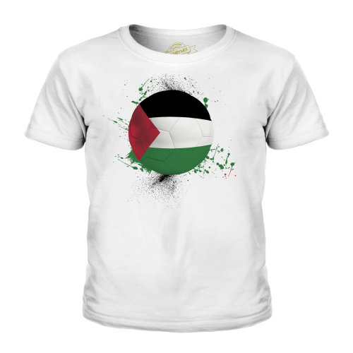 (White, 5-6 Years) Candymix - Palestine Football - Unisex Kid's T-Shirt