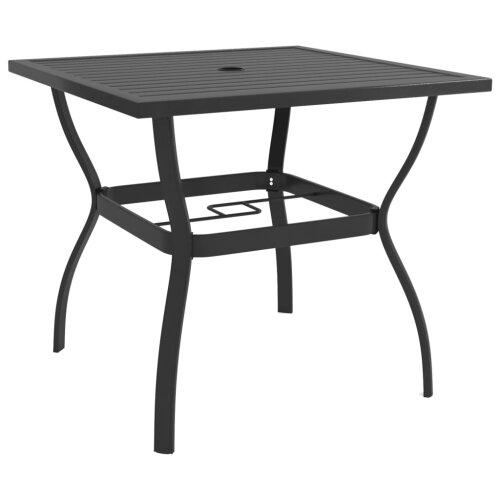 vidaXL Garden Table Anthracite 81.5 cm Steel Outdoor Patio Side Dinner Desk