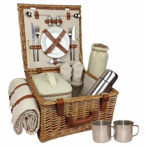 Deluxe Two Person Fitted Picnic Basket