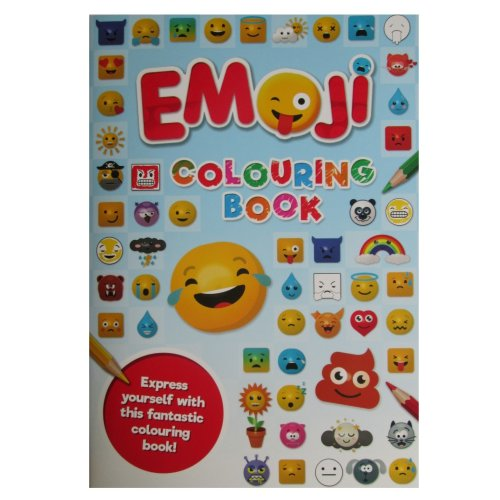 Emoji Colouring Book Blue