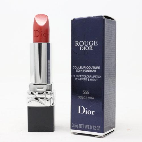 (555 Dolce Vita) Dior Rouge Dior Lipstick  0.12oz/3.5g New With Box
