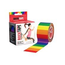 Rocktape Kinesiology Tape Athletic Adhesive Patterned Roll - Rainbow