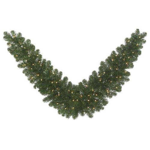 Vickerman C164911 Oregon Fir Dura-Lit Swag with Clear Lights - 48 in.