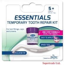 Dentek Essentials Cap Crown Filling Temporary Tooth Teeth Repair Kit 5+ Repairs