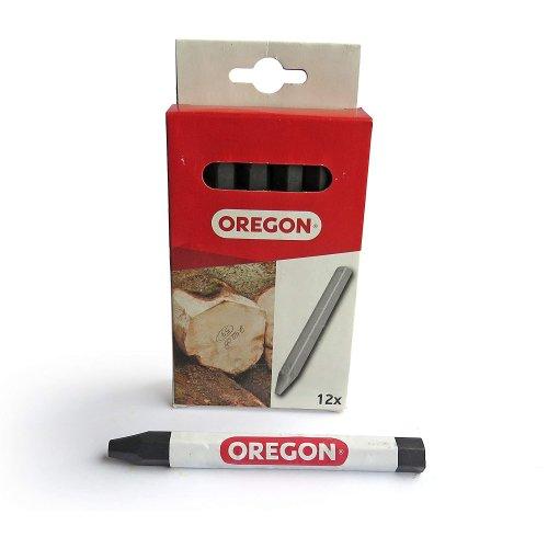 Oregon 295365 Multi Surface Marking Crayon - Black (Pack of 12)