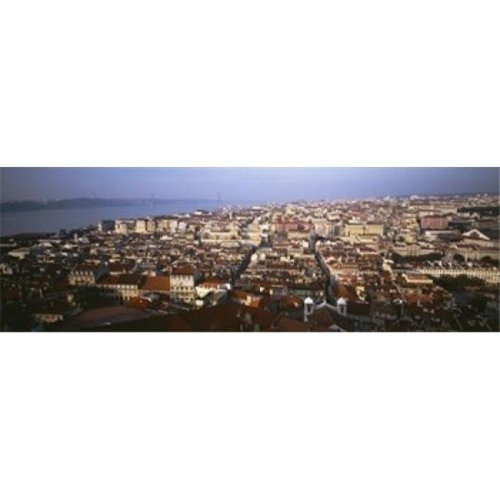 Aerial view of a city  Lisbon  Portugal Poster Print by  - 36 x 12
