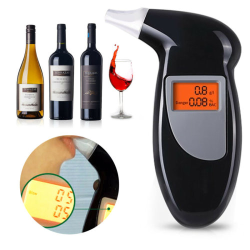 Breath Alcohol Analyzer Digital LCD Detector Test for Police
