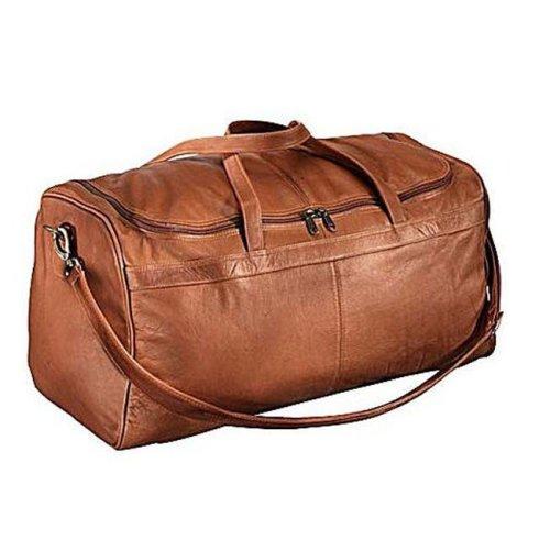 Piel Leather 9711 Travelers Select Medium Duffel Bag - Saddle