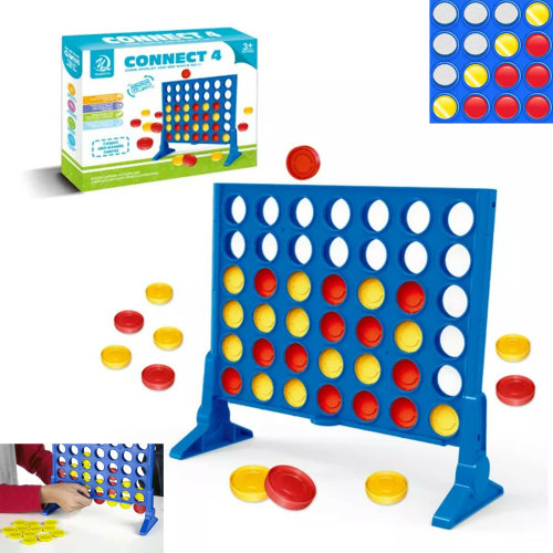 Four-In-A-Row Connect 4 In a Row Plastic Indoor table Game Outdoor Toy