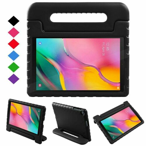 (Black) Protective Case For Samsung Galaxy Tab A7 10.4 2020 (SM-T500/T505) Full-Body EVA Foam Shockproof Stand Case, Hand Grip, Tablet Slim Cover Shell