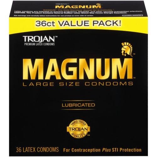 Trojan Magnum Large Size Condoms, 36ct