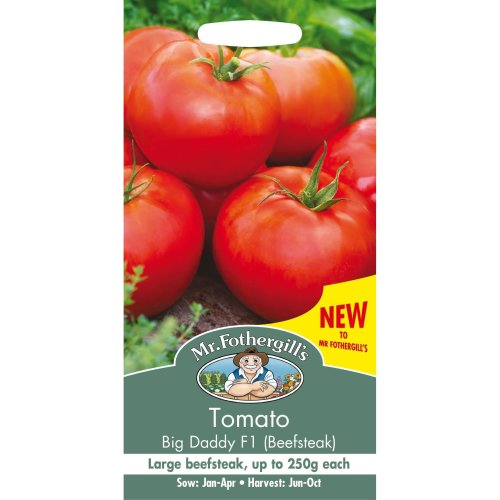 Mr Fothergills - Pictorial Packet - Vegetable - Tomato Big Daddy F1 - 20 Seeds