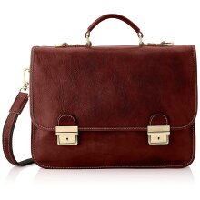 40x28x10 cm Leather Briefcase - Made in Italy