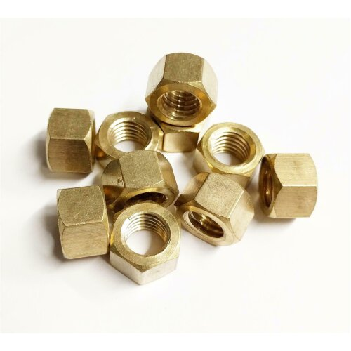 """10 x Brass Imperial Exhaust Manifold Nut 3/8"""" UNF High Temperature Nuts"""