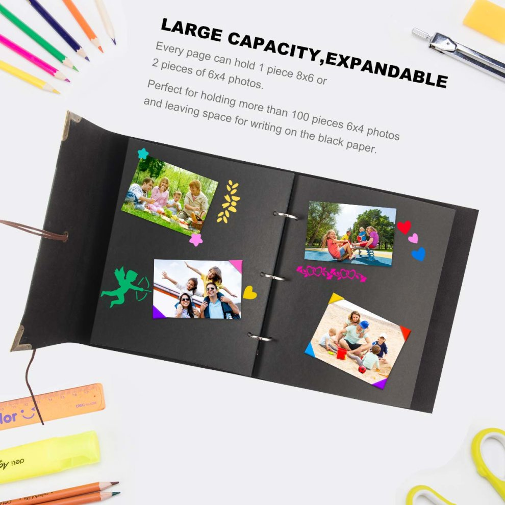 Photo Album 60 Pages Self-Adhesive Picture Book Kids Memory DIY Scrapbook Gift