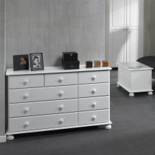 Large Merchants Chest of Drawers Sideboard Storage Unit 9 Drawer Chest Cabinet