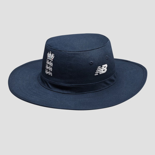 (XL-2XL 58cm) 2019/20 New Balance ECB England Cricket Sun Hat Cap, Galaxy