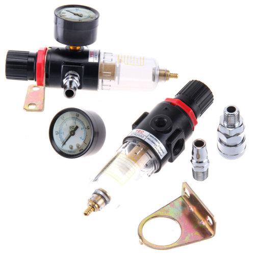 "1//4/"" Air Compressor BSP Moisture Trap Oil Water Filter Regulator Lubricators UK"