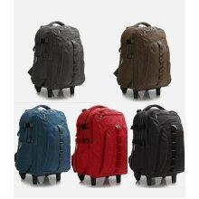 Unisex Backpack Trolley Wheeled Travel Bag