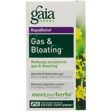 Gaia Herbs, RapidRelief, Gas & Bloating, 50 Capsules