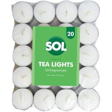 20pk Unfragranced Tealight Candles   White Unscented Tealights