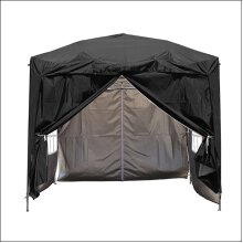 2.5 x 2.5m Garden Pop Up Gazebo Marquee Patio Canopy Wedding Party Tent- Black