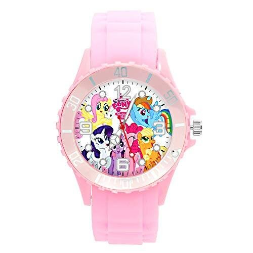 Silicone Pink Round Watch for My Little Pony Fans e1
