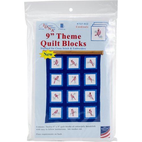 """Jack Dempsey Stamped White Nursery Quilt Blocks 9/""""X9/"""" 12//pkg Barnyard Friends"""