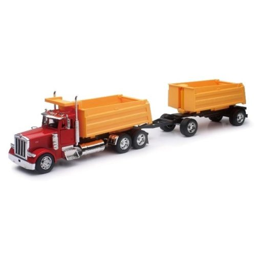 New-Ray Toys SS-10573A 1 - 32 Peterbilt 379 Twin Dump Truck - Pack of 6