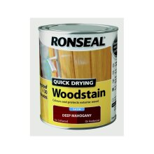 Quick Drying Woodstain Satin 750ml, Deep Mahogany, By Ronseal