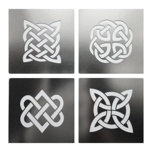 No2 Celtic Knots Stainless Steel Crafting Stencil Pyrography Emboss 4cm