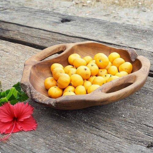 Teak Wooden Bowl Dora with handles Ø 35cm